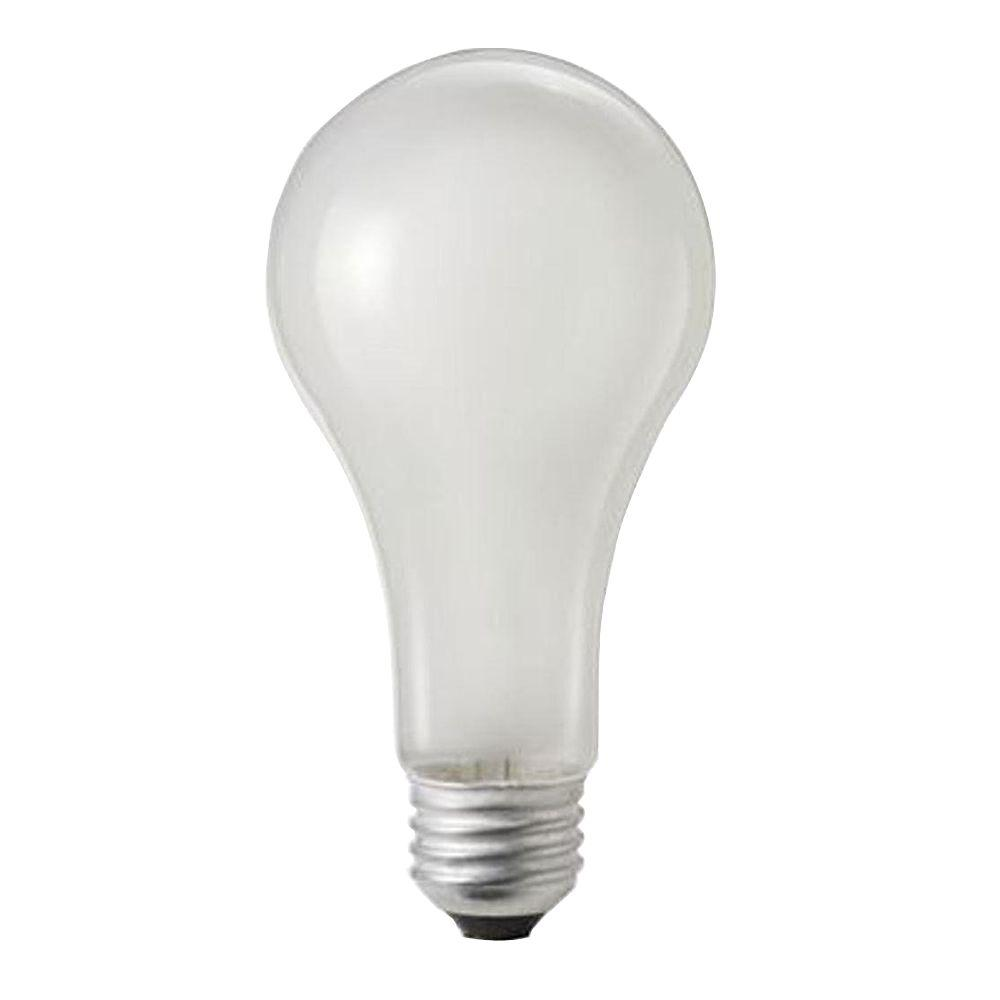 100-Watt Incandescent A21 250-Volt Rough Service Frosted Light Bulb (60-Pack)