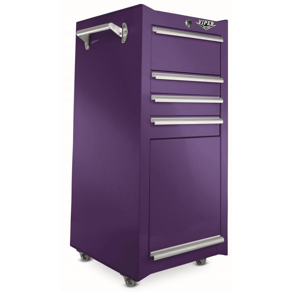 Viper Tool Storage 16 in. 4-Drawer Tool/Salon Cart in Purple