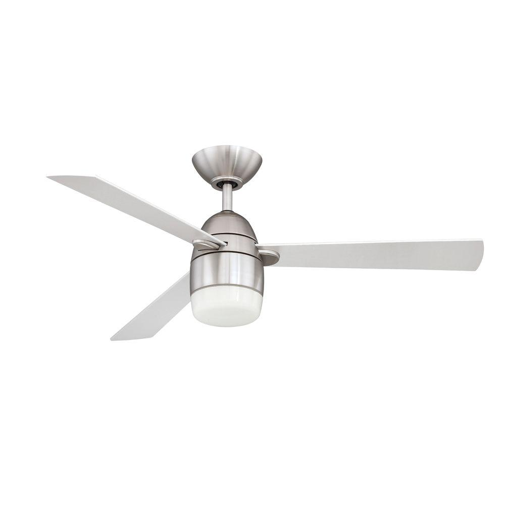 Designers Choice Collection Antron 42 in. Satin Nickel Ceiling Fan