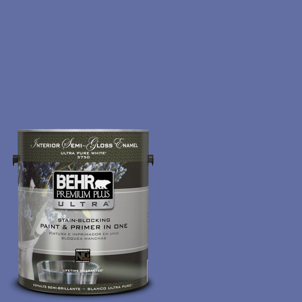 BEHR Premium Plus Ultra 1-gal. #610B-6 Stained Glass Semi-Gloss Enamel Interior Paint