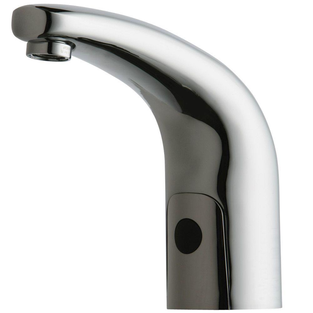 Chicago Faucets HyTronic DC-Powered Touchless Lavatory Faucet in Chrome-DISCONTINUED