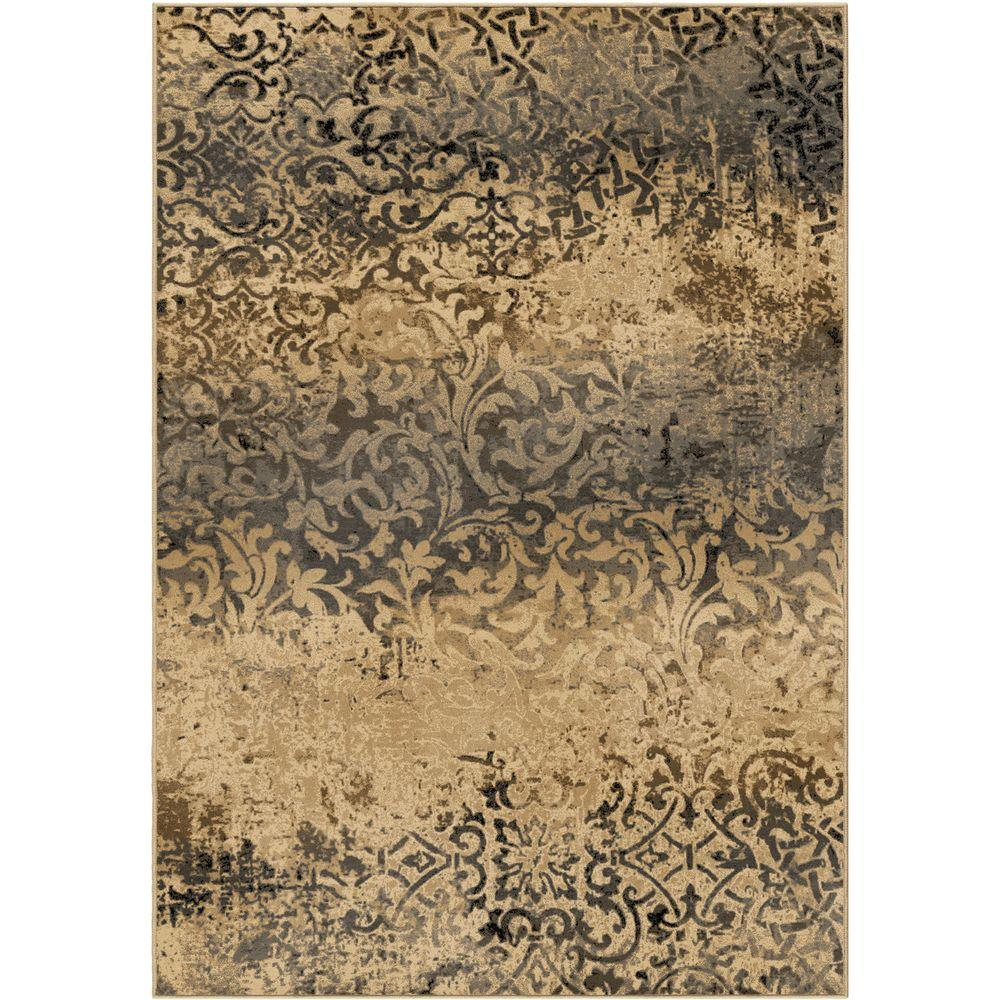 Orian Rugs Parched Scroll Beige 5 ft. 3 in. x 7
