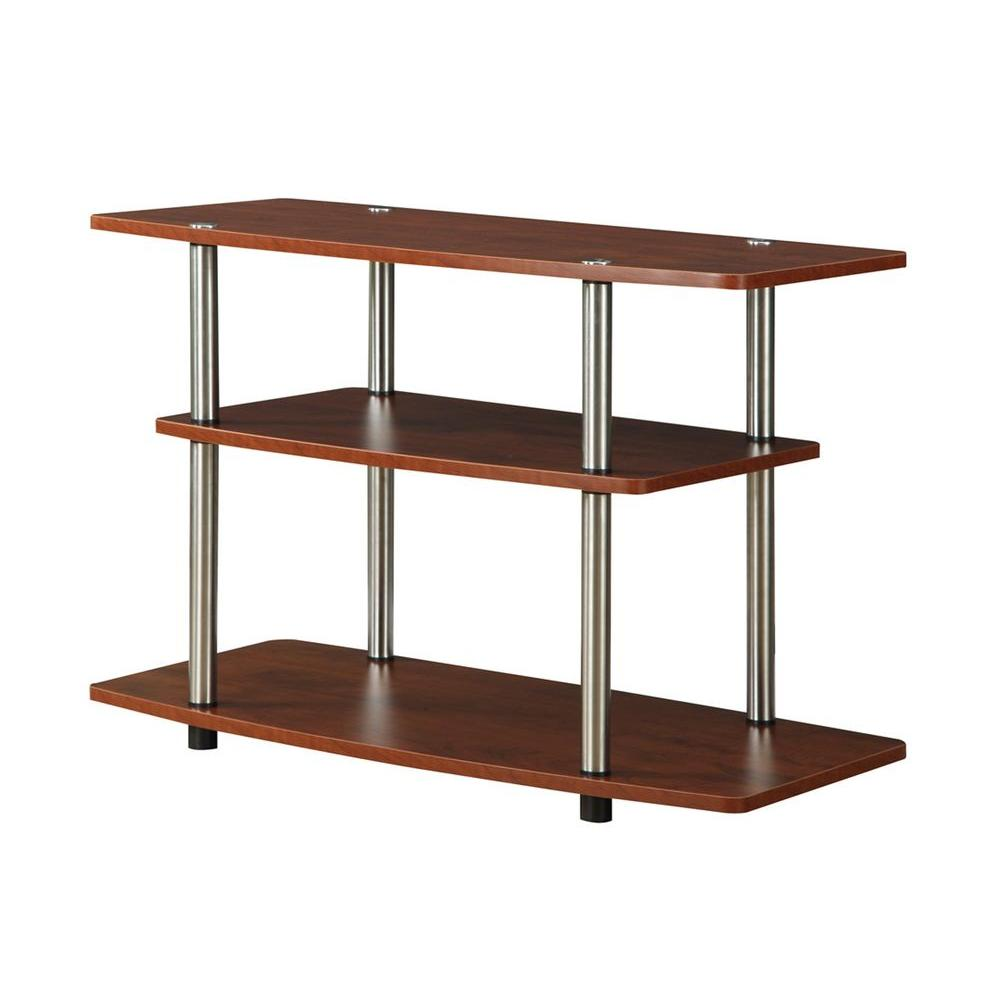 Convenience Concepts Designs2Go 3-Tier TV Stand in Cherry-131020CH - The Home