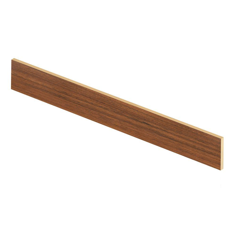 Cap A Tread Peruvian Mahogany 47 in. Length x 1/2 in. Deep x 7-3/8 in. Height Laminate Riser to be Used with Cap A Tread