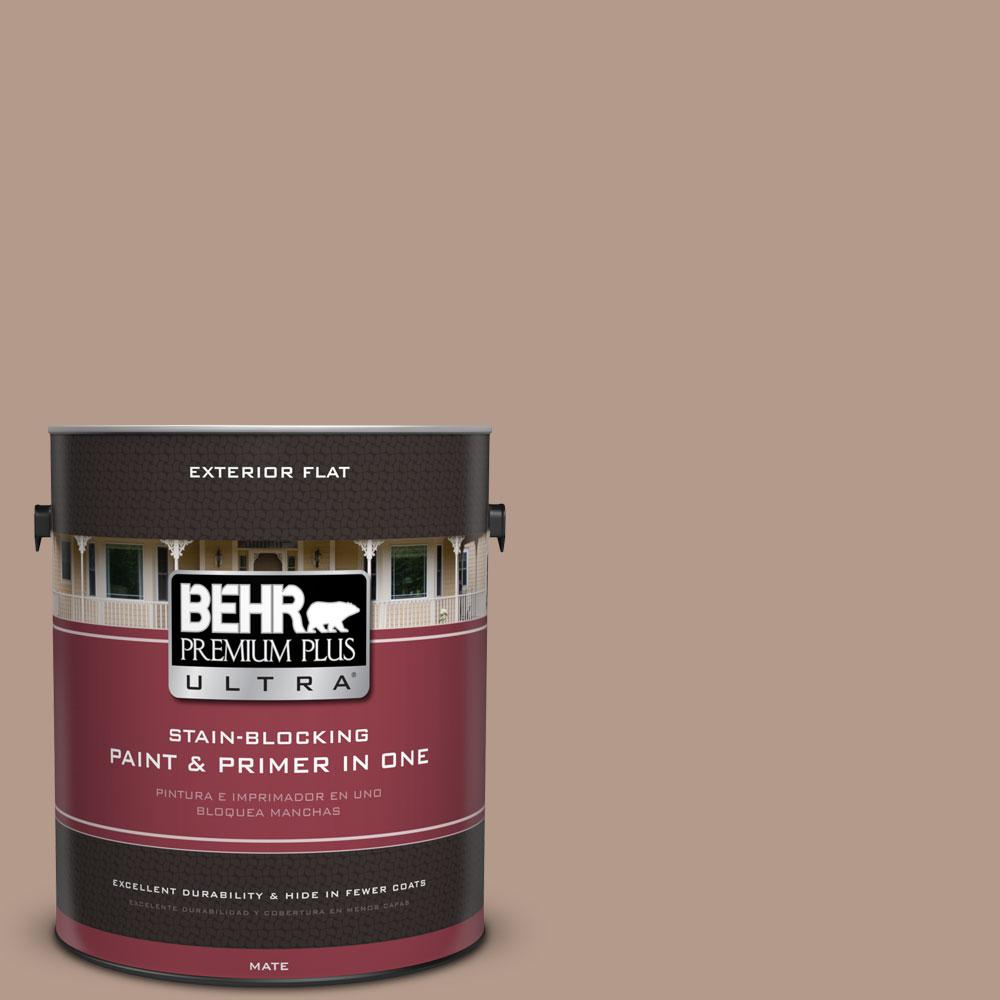 BEHR Premium Plus Ultra 1-gal. #PMD-77 Rich Taupe Flat Exterior Paint