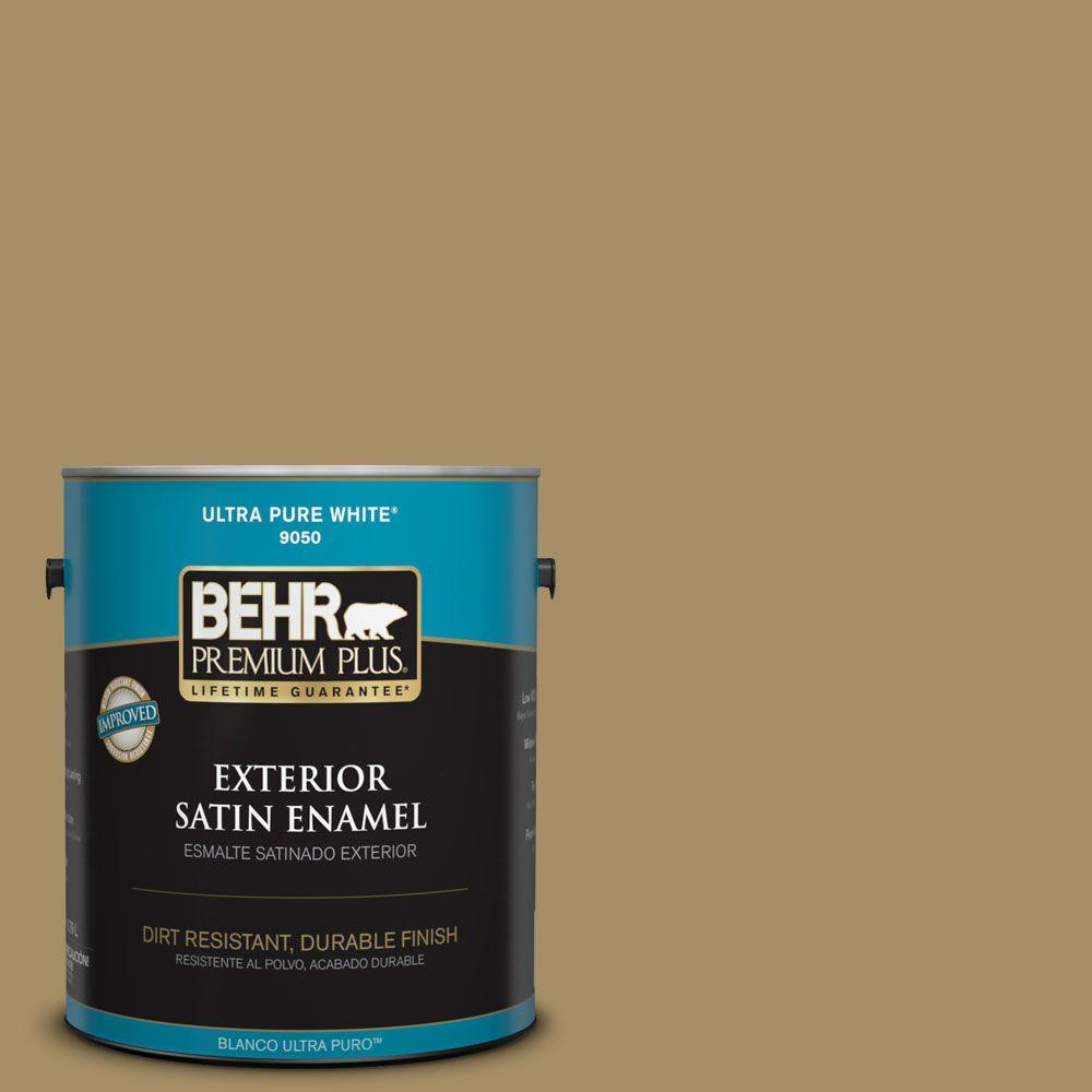 1-gal. #350F-6 Fossil Butte Satin Enamel Exterior Paint