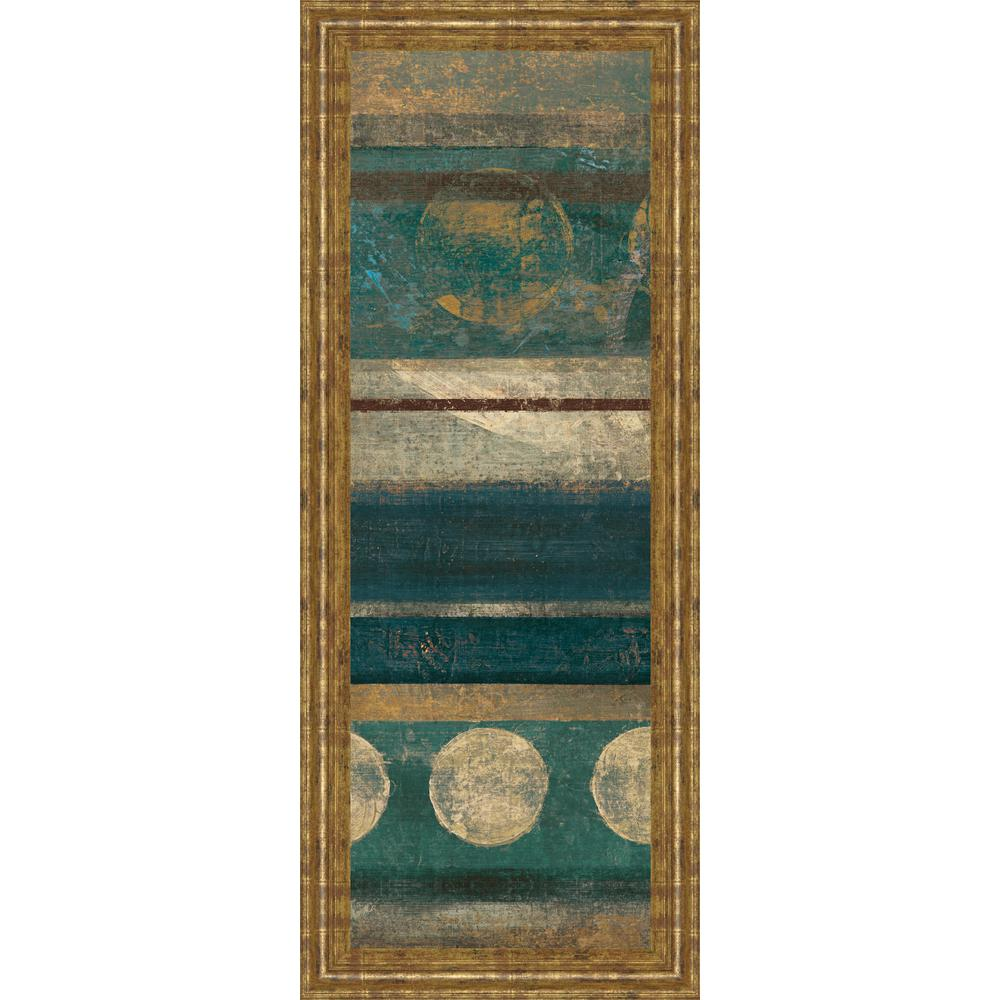"18 in. x 42 in. ""Bora Blue"" by Roque Silva Framed"