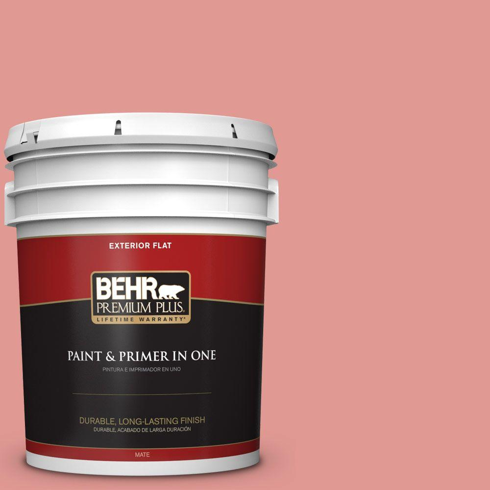 5-gal. #160D-4 Strawberry Rose Flat Exterior Paint