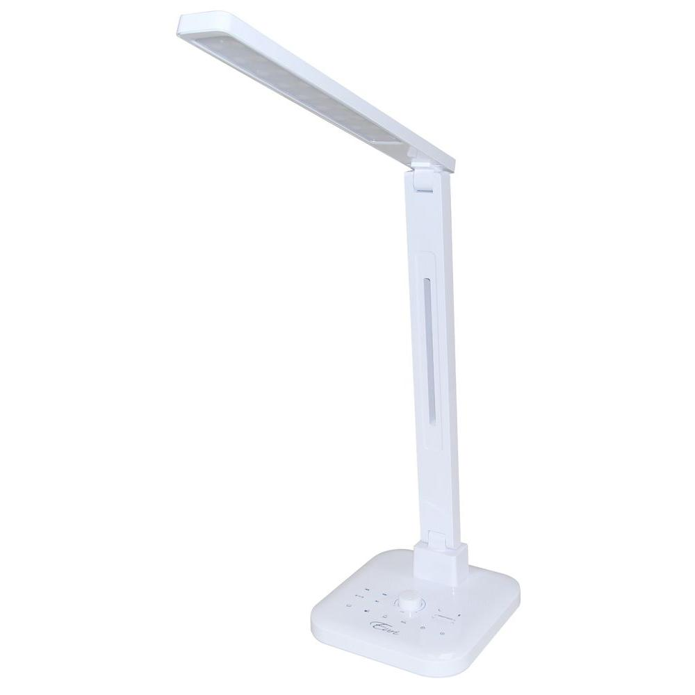 Euri Lighting 18 in. Black Integrated LED Desk Lamp with Wireless