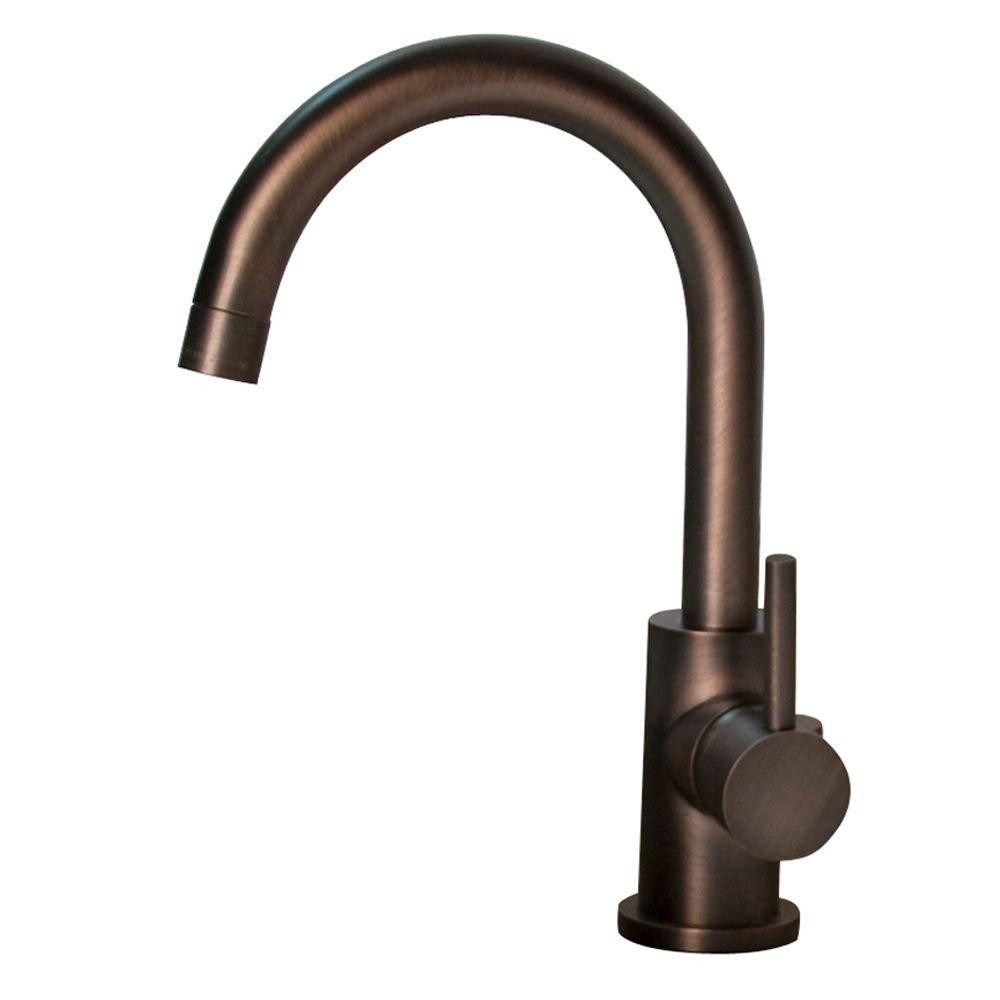 Barclay Products Spencer Single Hole 1-Handle High-Arc Bathroom Faucet in Oil Rubbed Bronze-DISCONTINUED