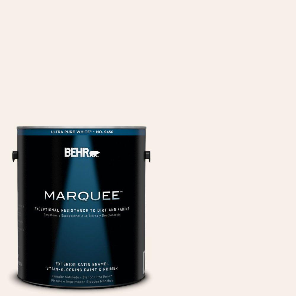 BEHR MARQUEE 1-gal. #W-D-100 China Cup Satin Enamel Exterior Paint