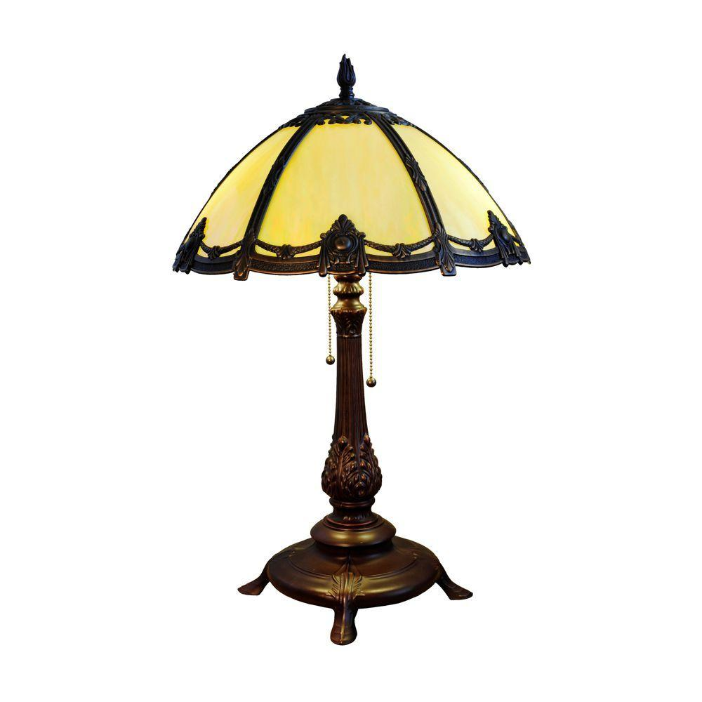 Chloe Lighting Victorian 16 in. 2 Light Resin Table Lamp -DISCONTINUED