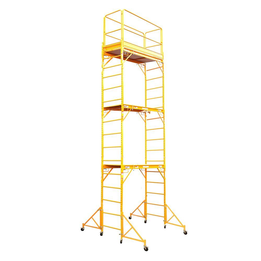 Fortress 18 ft. x 6 ft. x 29 in. Rolling Drywall Scaffold Unit 1000 lb. Load Capacity