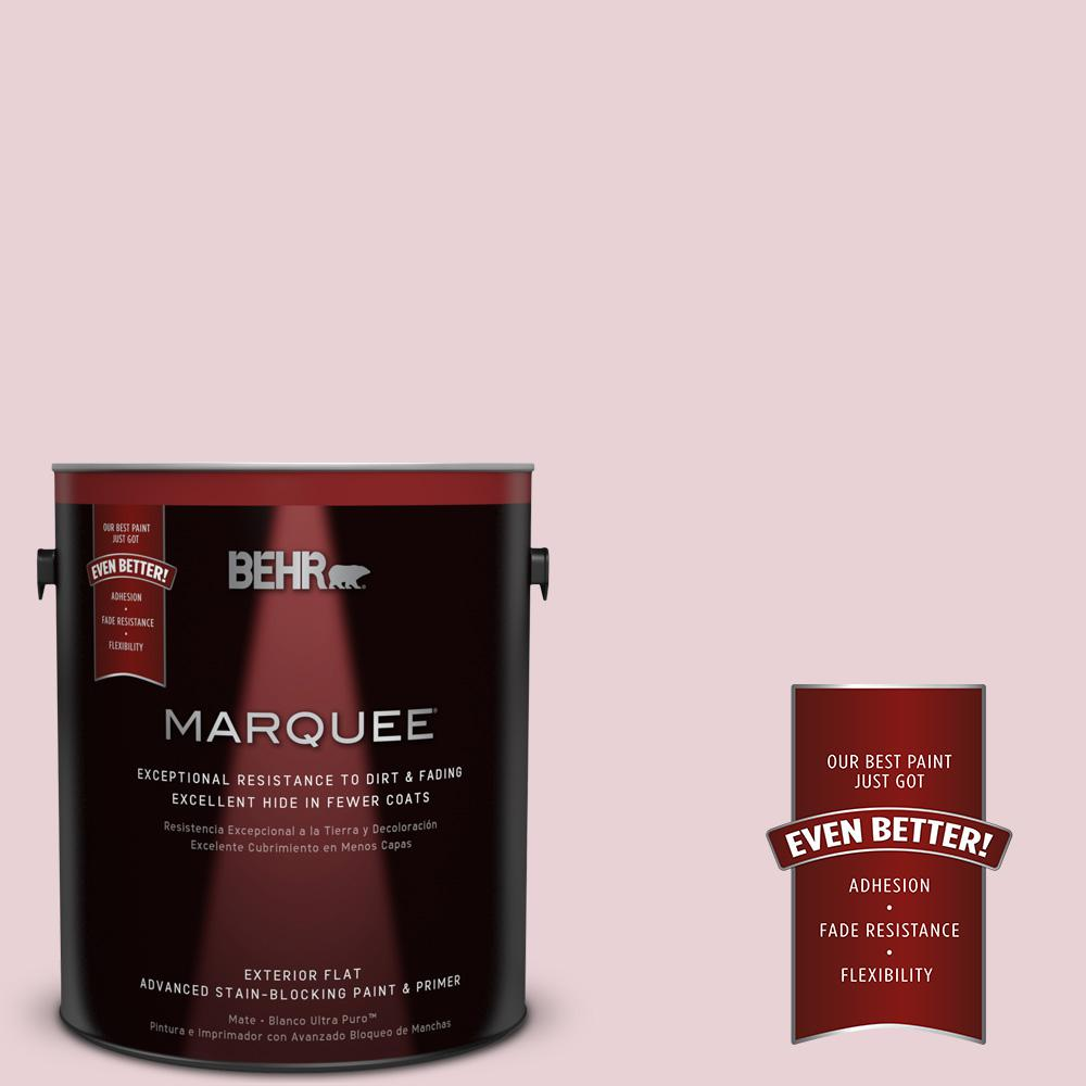 BEHR MARQUEE 1-gal. #S130-1 Beloved Pink Flat Exterior Paint-445001 - The