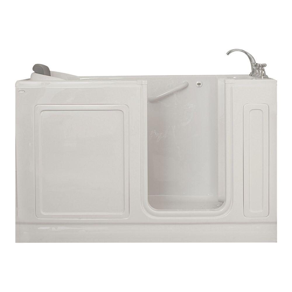 American Standard Acrylic Standard Series 60 in. x 32 in. Walk-In Soaking Tub with Quick Drain in White
