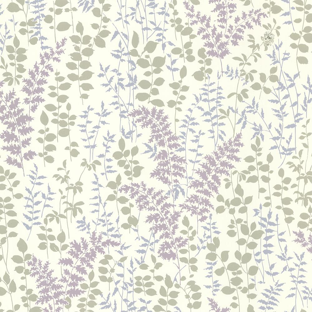 Dixon Purple Forest Leaves Wallpaper Sample