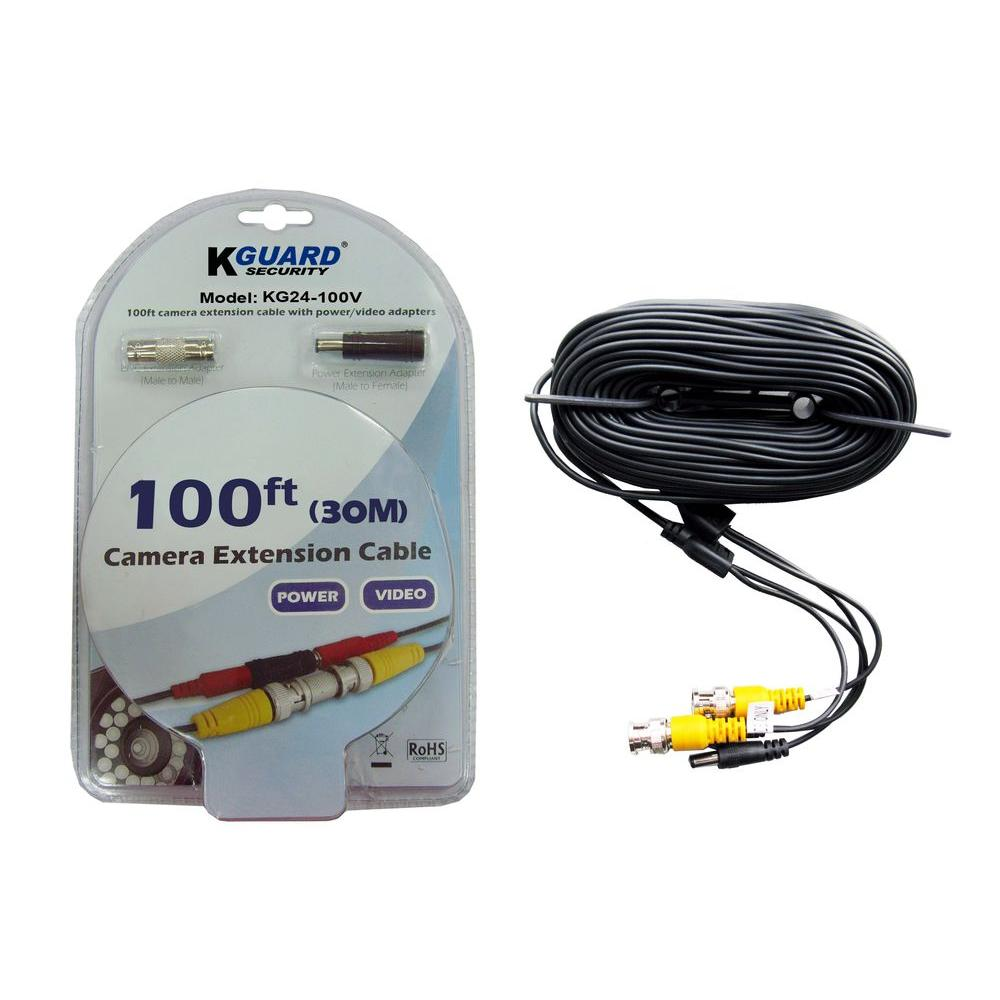 KGUARD Security 100 ft. BNC to BNC Extension Cables for Security Cameras