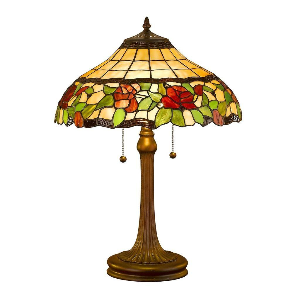 23 in. Tiffany Style Floral Table Lamp