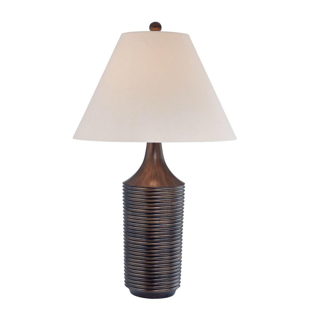 Illumine 28.75 in. Brushed Bronze Table Lamp
