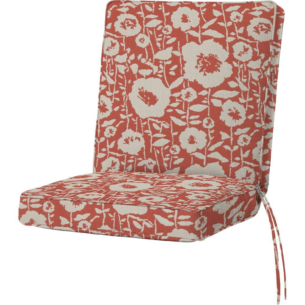 Sunbrella Andy Guava Outdoor Dining Chair Cushion