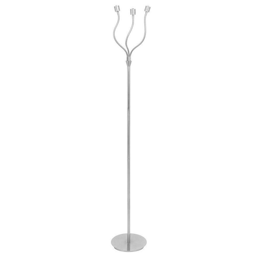 Lumisource 61 in. Triflex Brushed Nickel LED Floor Lamp