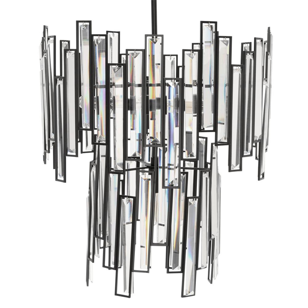 Modern light fixture with geometric style lines