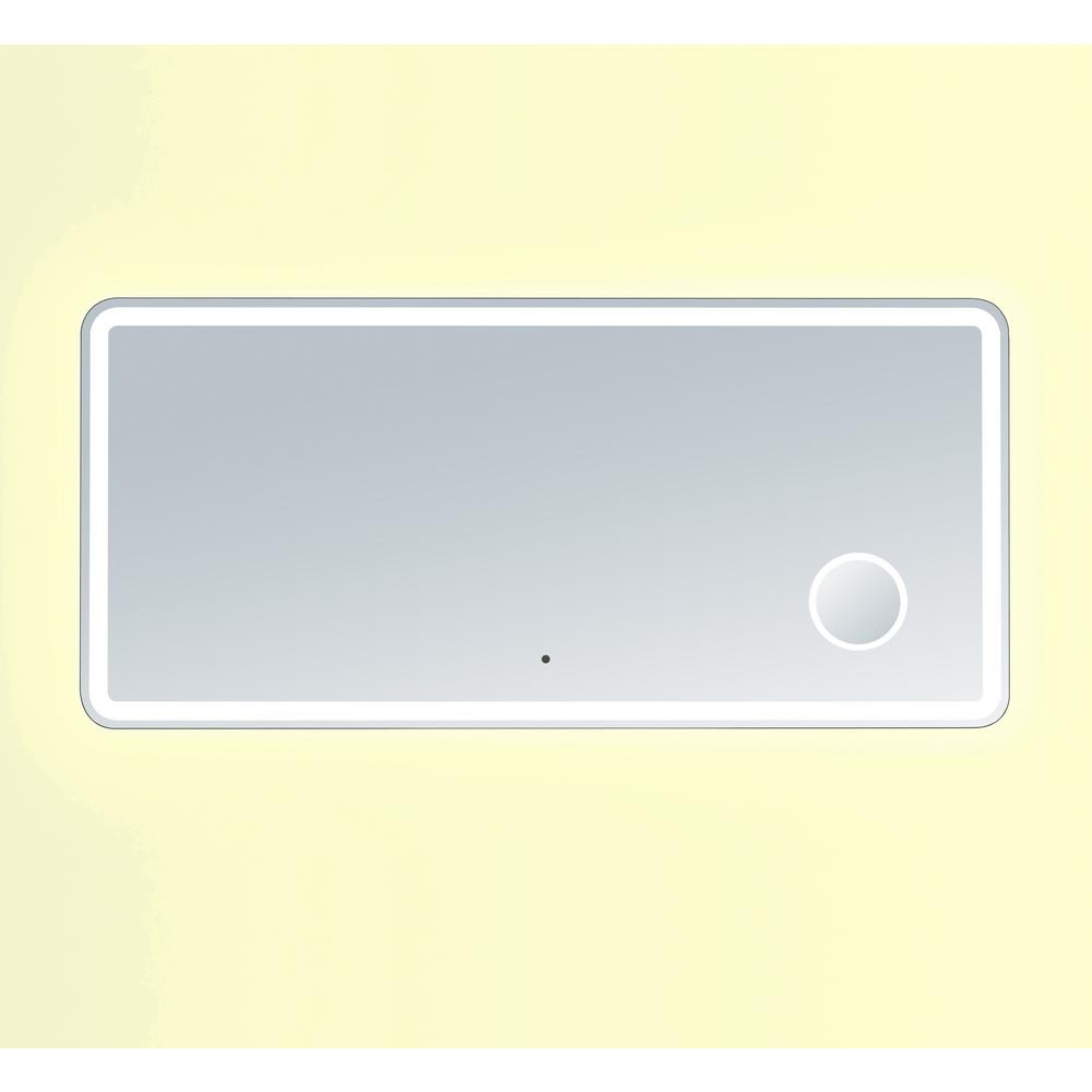 Innoci usa electra 60 in x 28 in rounded edge led mirror for Mirror 45 x 60
