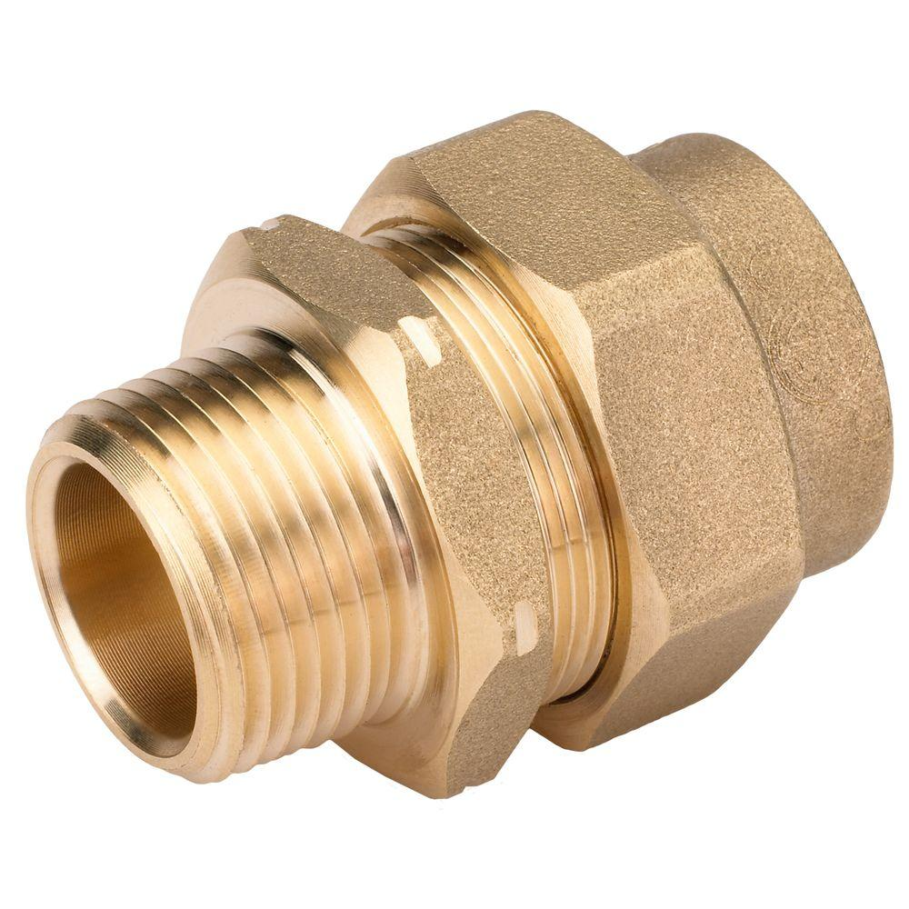 null 3/4 in. Brass CSST x MIPT Male Adapter