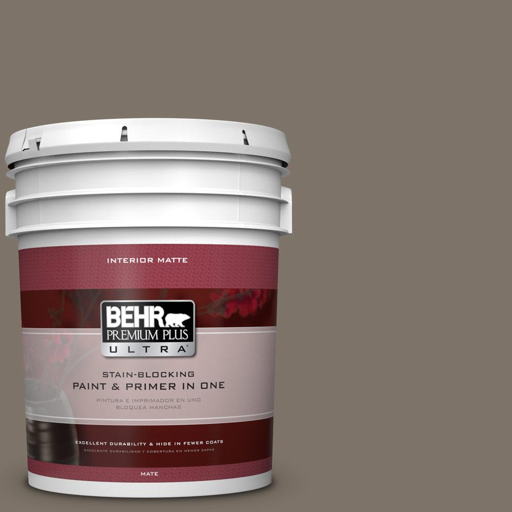BEHR Premium Plus Ultra Home Decorators Collection 5 gal. #HDC-NT-05 Aged Olive Flat/Matte Interior Paint