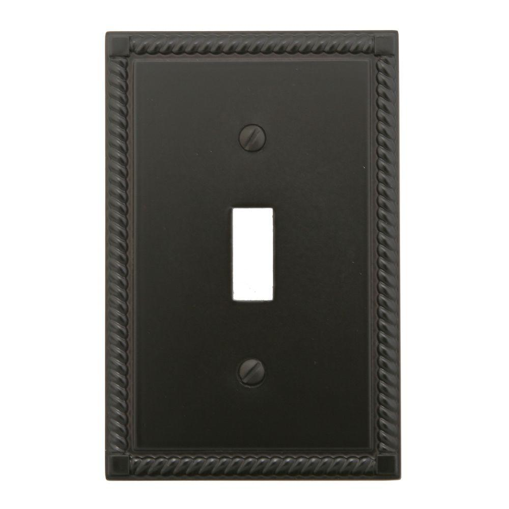 Georgian 1 Toggle Wall Plate - Oil Rubbed Bronze