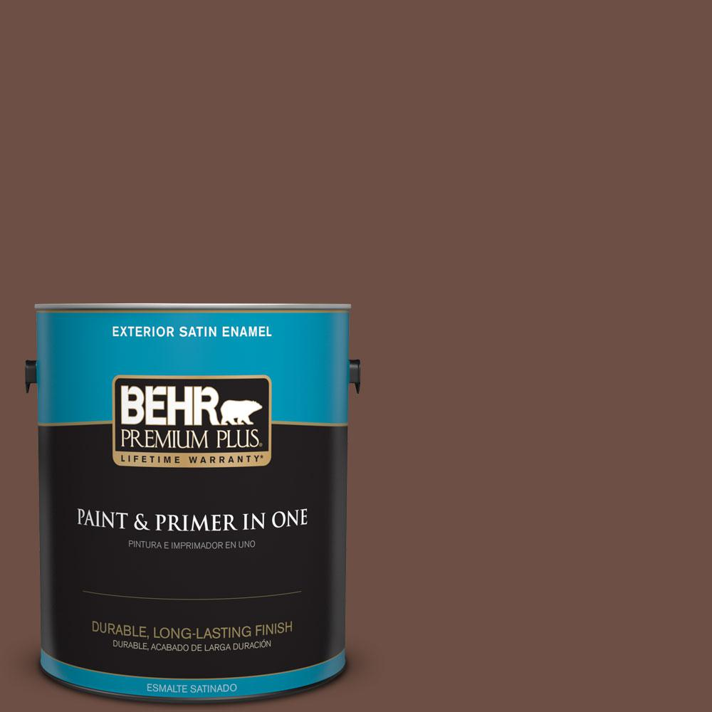 1-gal. #PMD-108 Double Chocolate Satin Enamel Exterior Paint