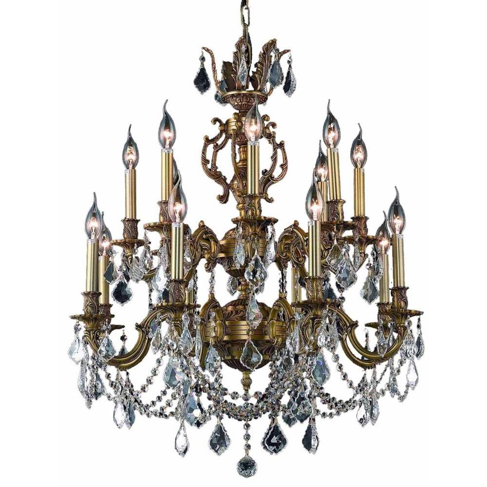 Elegant Lighting 16-Light French Gold Chandelier with Clear Crystal
