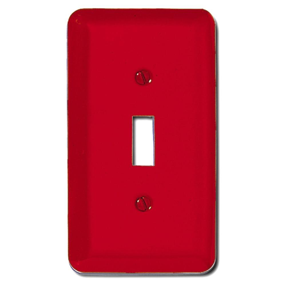 Amerelle Steel 1 Toggle Wall Plate - Red