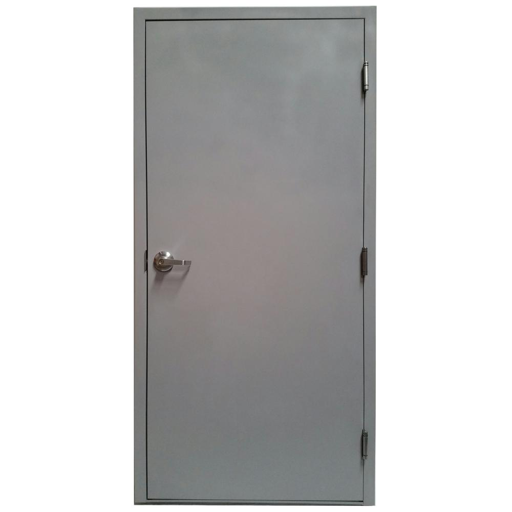 steel door with knock down frame and hardware vsdfpkd3684el the home