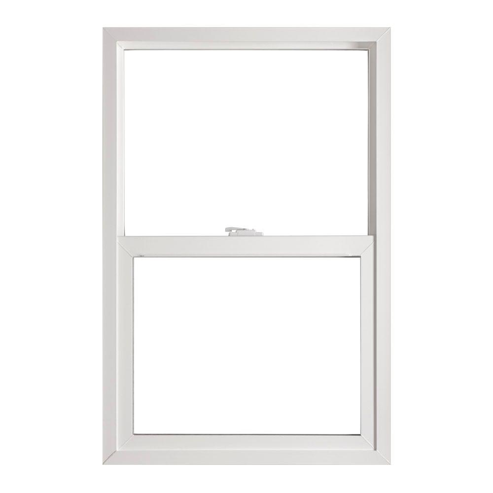 Single Hung Wood Replacement Windows: Ply Gem 35.5 In. X 51.5 In. Single Hung Vinyl Window
