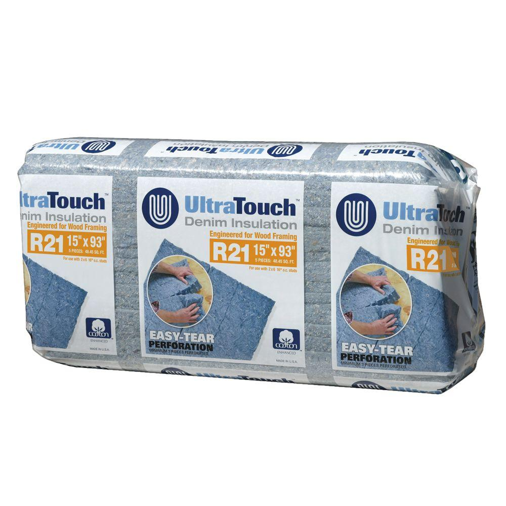UltraTouch 15 in. x 93 in. R21 Denim Insulation (12-Bags)-10003-02115 -