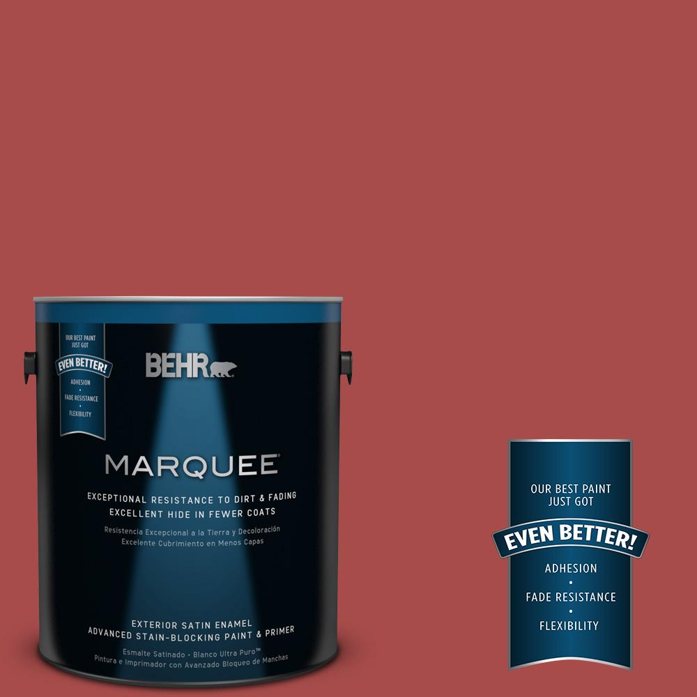 BEHR MARQUEE Home Decorators Collection 1-gal. #HDC-CL-09 Persimmon Red Satin Enamel Exterior Paint