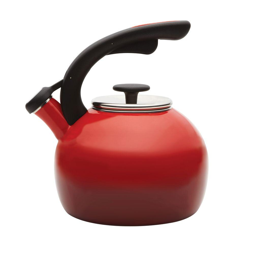 2 qt. Crescent Tea Kettle in Red