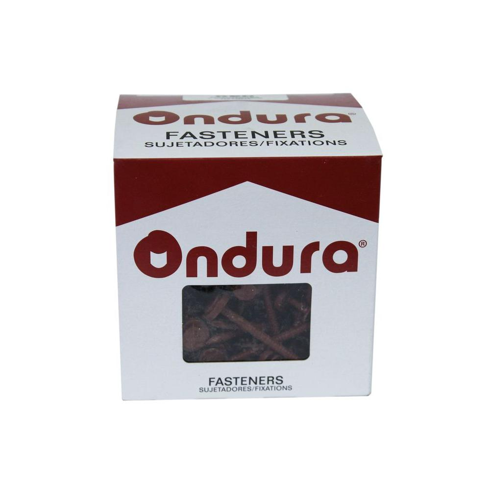 Ondura 3 in. Red Nails with Washer (100 per Box)-3203 -
