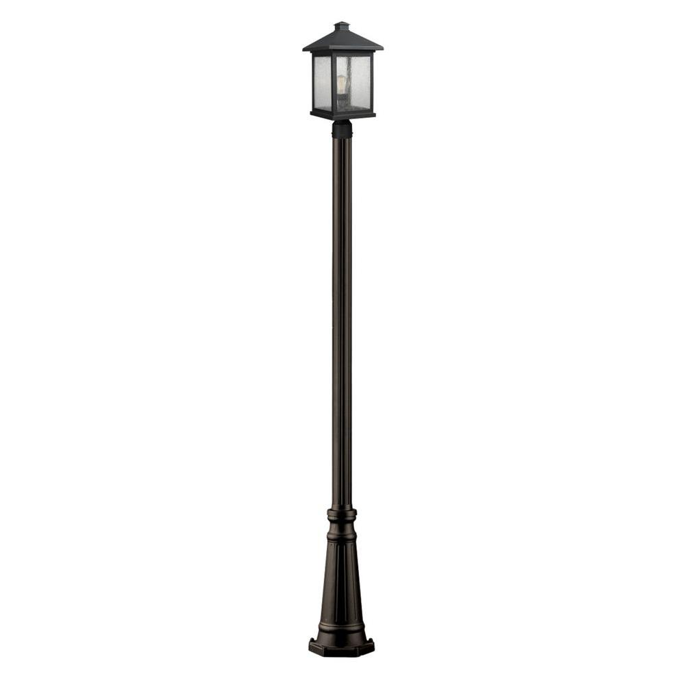 Malone 1-Light Oil-Rubbed Bronze Outdoor Lamp Post
