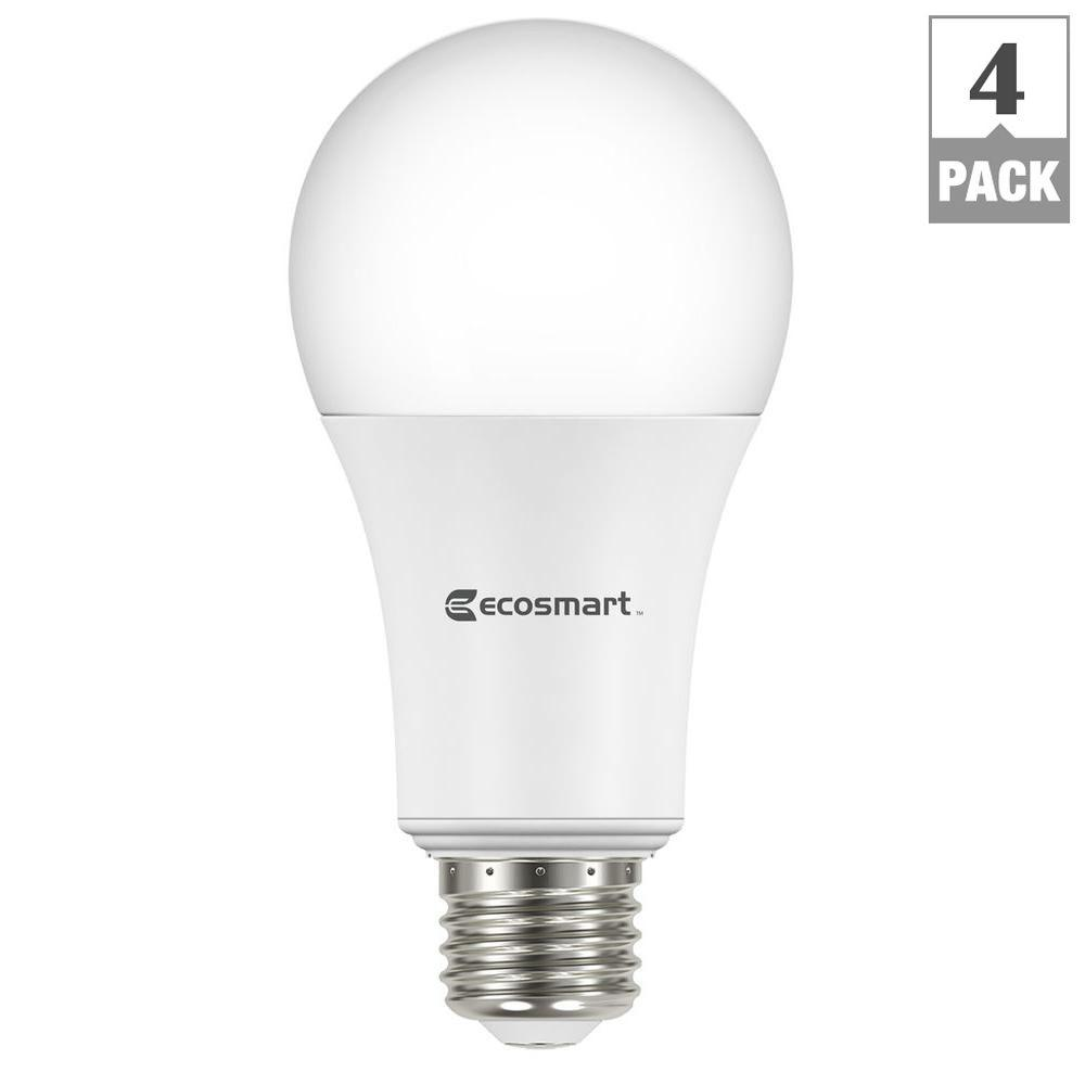ecosmart 100w equivalent daylight a21 non dimmable led light bulb 4 pack 5bsa1600ssq107 the. Black Bedroom Furniture Sets. Home Design Ideas