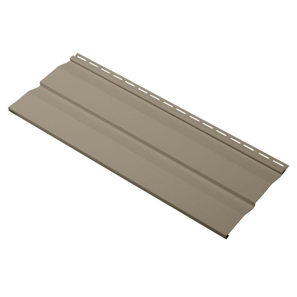 Cellwood Evolutions Double 4.5 in. x 24 in. Dutch Lap Vinyl Siding Sample in Khaki