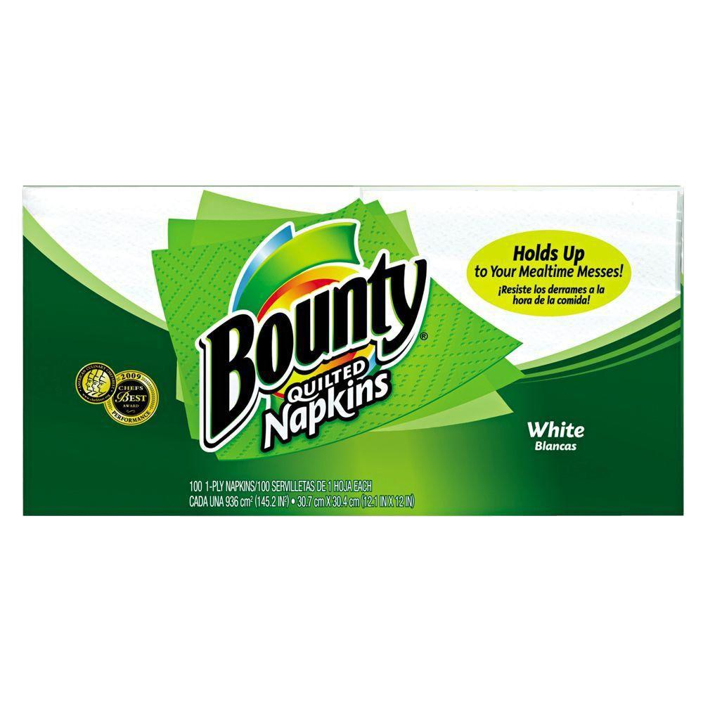 Bounty Quilted Napkins (100-Pack)-PGC 34884 - The Home Depot