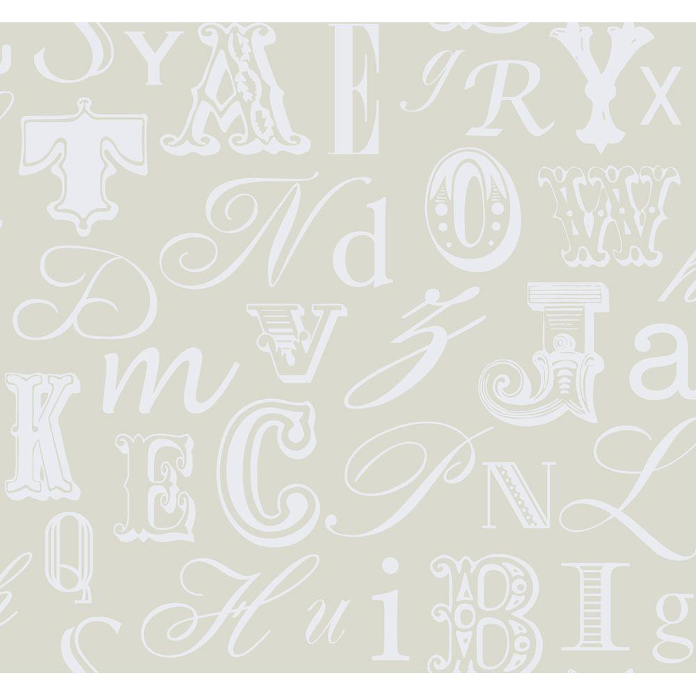 York Wallcoverings 60.75 sq. ft. Word Play Wallpaper