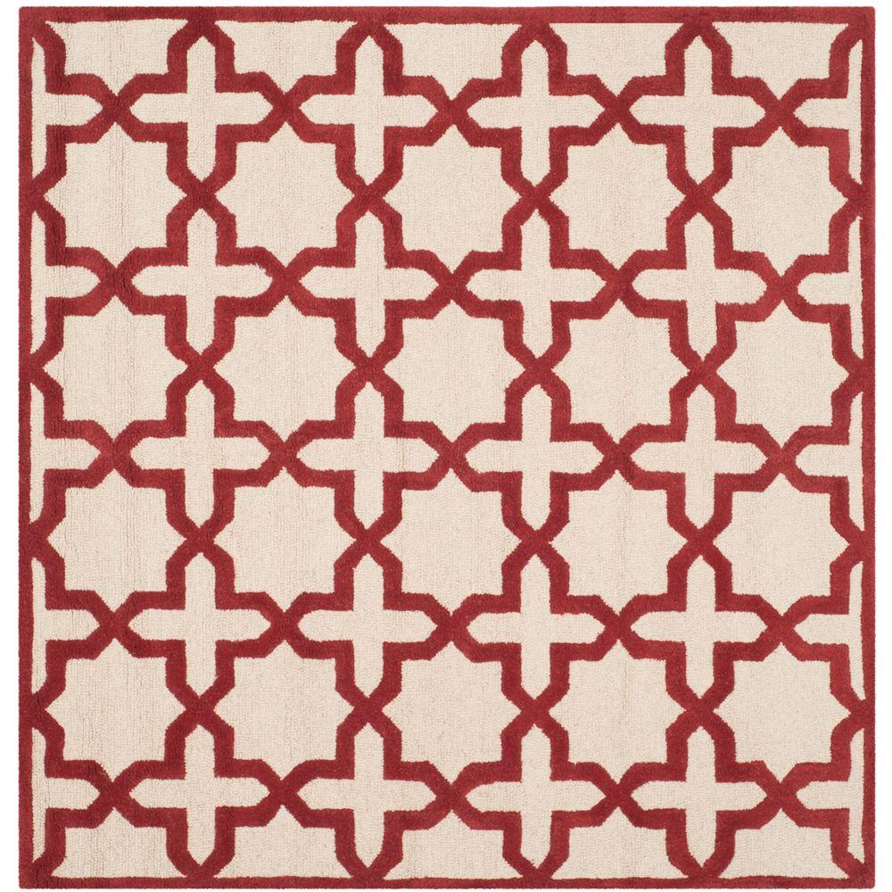 Cambridge Ivory/Rust 6 ft. x 6 ft. Square Area Rug