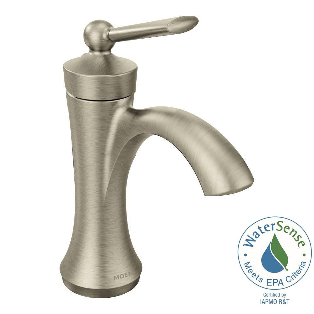 Wynford Single Hole 1-Handle High-Arc Bathroom Faucet in Brushed Nickel