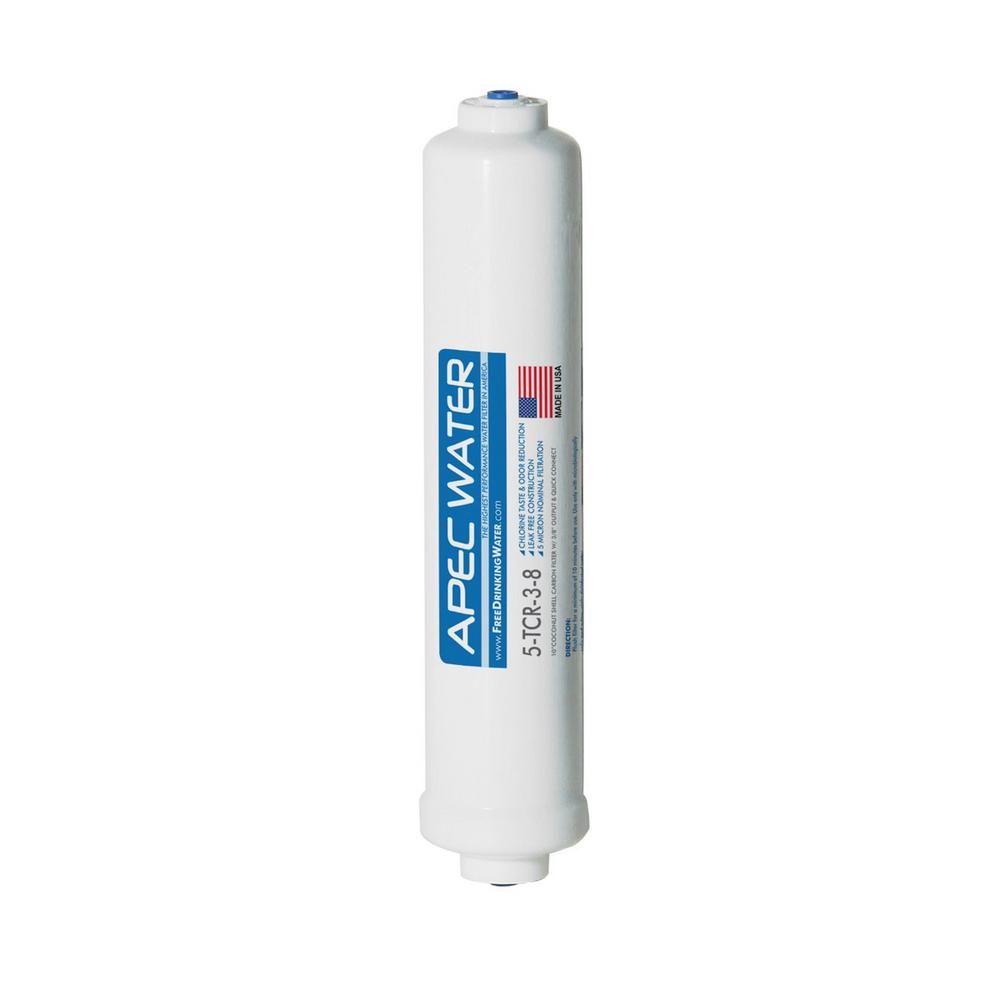 Ultimate 10 in. Inline Carbon Filter with 3/8 in. Quick Connect