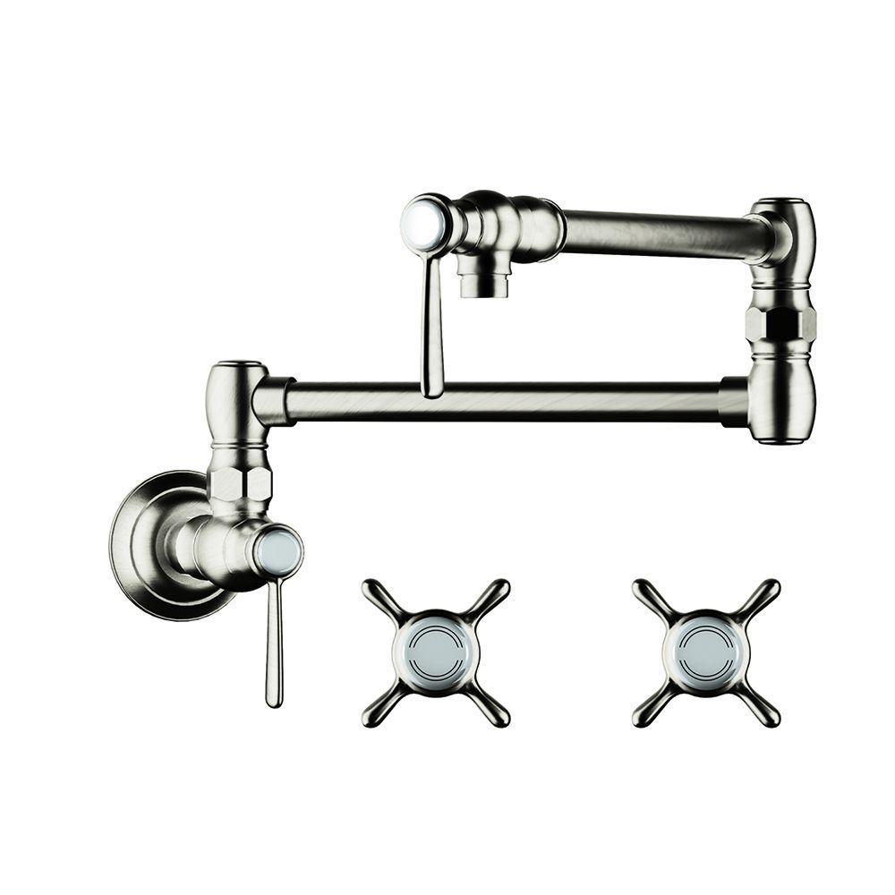 Axor Montreux Wall Mounted Potfiller in Polished Nickel