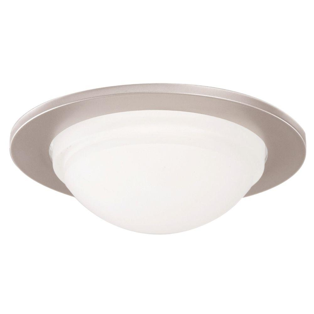 Halo 5054 Series 5 In. Satin Nickel Recessed Ceiling Light Dome Trim, Wet Rated Shower Light