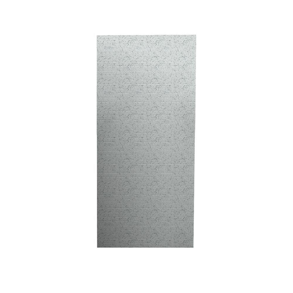 Swanstone Geometric 1/4 in. x 36 in. x 96 in. One Piece Easy Up Adhesive Shower Wall in Tahiti Gray-DISCONTINUED